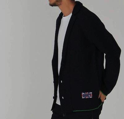 ikka(イッカ)gim ブリティッシュウールニットジャケット