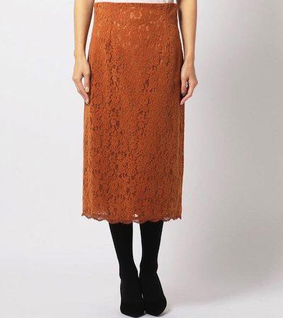 MEW'S REFINED CLOTHES(ミューズ リファインド クローズ)スエードレースタイトスカート
