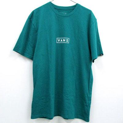 VANS(ヴァンズ) Easy Box Logo Teal T-Shirt イージー ボックス ロゴ ティール Tシャツ
