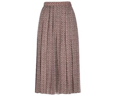 FENDIピンクとブラウンのシルク製スカート