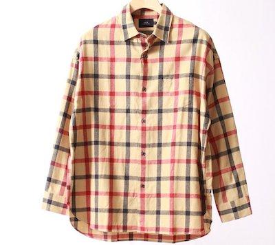 SLICK(スリック)シャギーチェックドロップショルダーシャツ