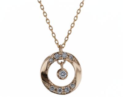festaria bijou SOPHIAK10イエローゴールド ダイヤモンド ペンダント
