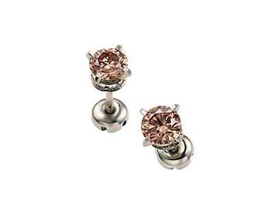 BROWN DIAMOND(ブラウンダイヤモンド)ソリティア ピアス