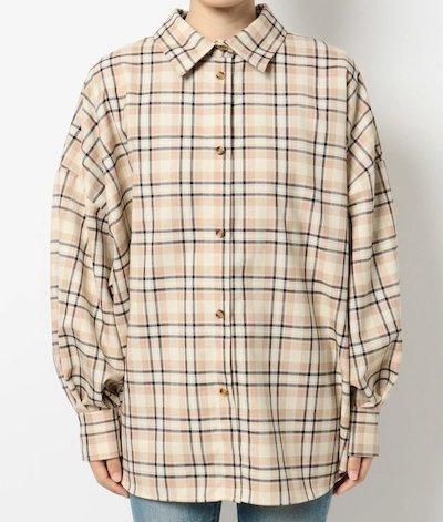 EVRIS(エヴリス)チェックバックボタンシャツ