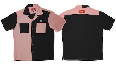 CREAM SODA(クリームソーダ)CSパネル切替えしシャツピンクxブラック