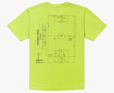 ゴールスタジオ) フットボールフィルードTシャツ)のバックプリントのデザイン