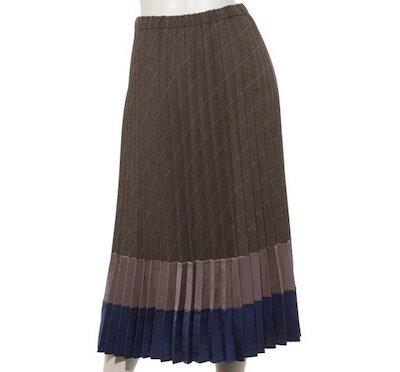 TONAL(トーナル)チェックドッキングプリーツスカート
