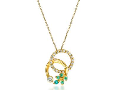 STAR JEWELRY(スタージュエリー)K18 ネックレス PARAIBA TOURMALINE & DIAMOND NECKLACE