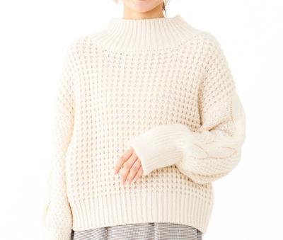 flowerwaffle turtle knit ~ワッフルタートルニット