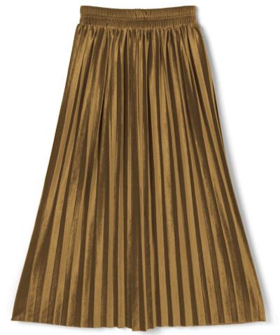 GRLベロアプリーツスカート