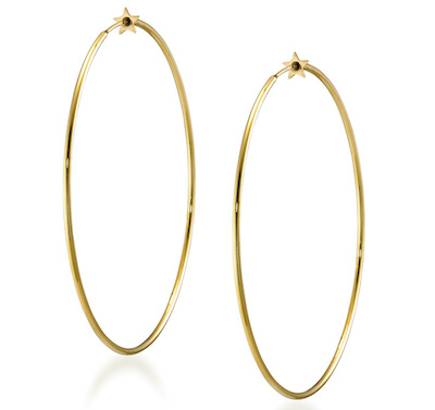 STAR JEWELRY K18ピアス STAR HOOP PIERCED EARRINGS 5.5cm