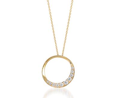 STAR JEWELRY(スタージュエリー)K18 ネックレス CIRCLE MOON