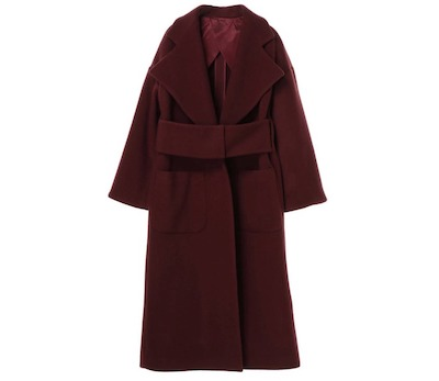 UN3D. WIDE BELT GOWN COAT