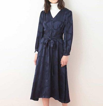 Tara Jarmon(タラジャーモン)サテンハートドレス