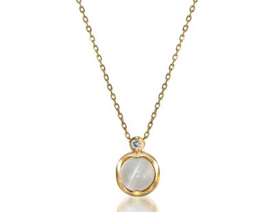 STAR JEWELRY(スタージュエリー)K10 ネックレスMOONSTONE & DIAMOND NECKLACE