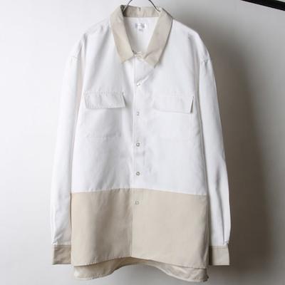 Nilway(ニルウェイ)ピーチ加工微起毛フラップ付きレギュラーシャツ