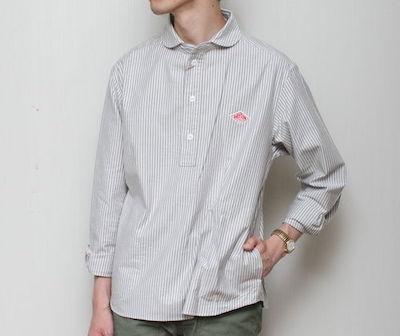 Danton(ダントン)オックスチェックプルオーバーシャツ