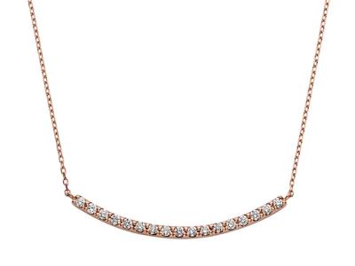 Vendome Aoyama(ヴァンドーム青山)ピンクゴールド ダイヤモンド 0.20ct リュール ネックレス
