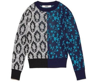 FURFURハーフフラワーセーター