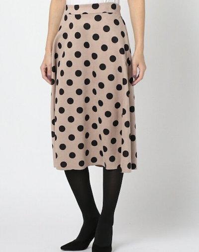 MEW'S REFINED CLOTHES(ミューズ)ドット柄スエードスカート