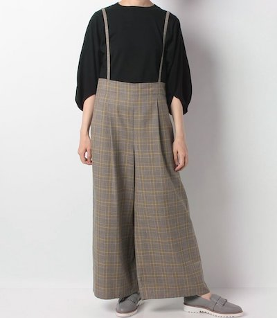 Mylanka(ミランカ)サロペット付きワイドパンツ
