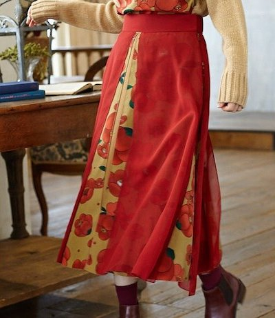 FURIFU(ふりふ)雪椿)十二単スカート