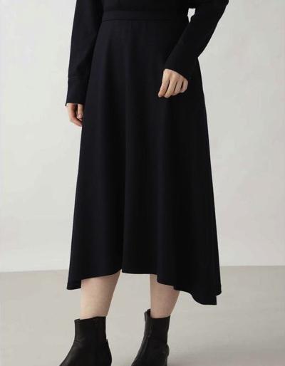 HUMAN WOMAN(ヒューマンウーマン)◆スムースミルドスカート