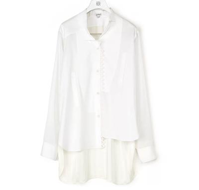 LOEWE(ロエベ)Lace Trim Asymmetric Shirt