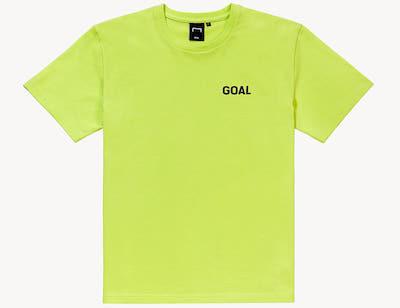 GOAL STUDIO(ゴールスタジオ) FOOTBALL FIELD TEE(フットボールフィルードTシャツ)ライムイエロー