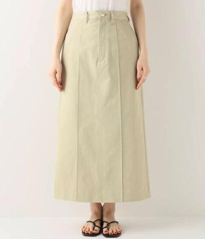 AURALEE WASHED FINX LIGHT チノスカート