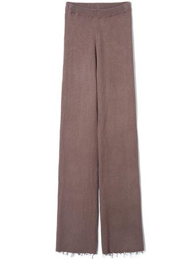 PERVERZECotton Rib Line Pants / Mocha