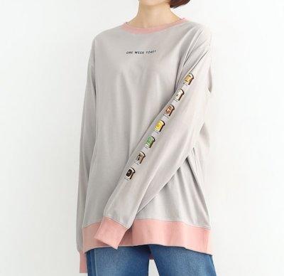 merlot(メルロー)ONE WEEK TOASTロングスリーブTシャツ