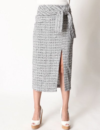 DURAS(デュラス)ウエストリボンツイードスカート