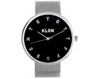 KLON(クローン) ALPHABET TIME -SILVER MESH- 【BLACK SURFACE】 Ver.SILVER 40mm