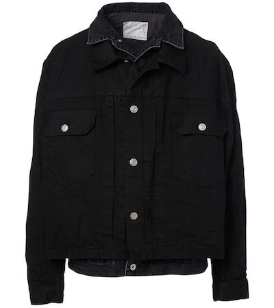 SACAI Cotton Layered Denim Jacket