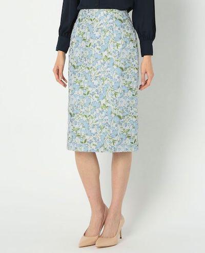 NARACAMICIEフラワージャカードタイトスカート