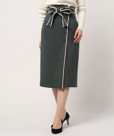 Rirandtureラップ風パイピングタイトスカート