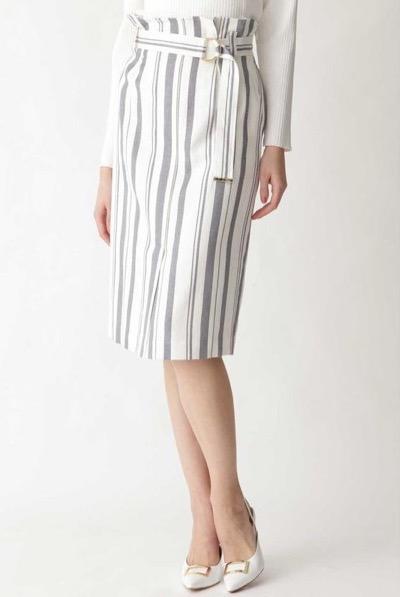 PINKY&DIANNE(ピンキー アンド ダイアン)ドビーストライプタイトスカート