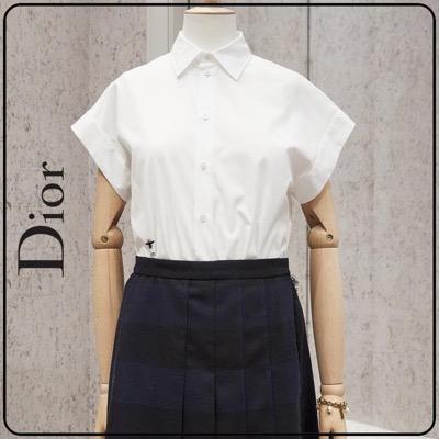 Dior(ディオール)[20aw]DIOR(ディオール) ミツバチ刺繍 コットンブラウスホワイト