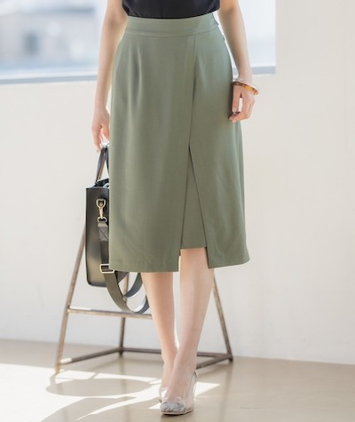 Andemiuムジガラスリットスカート