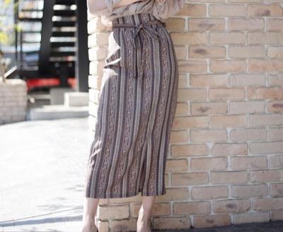 LIPSERVICEマルチパターンナローロングスカート