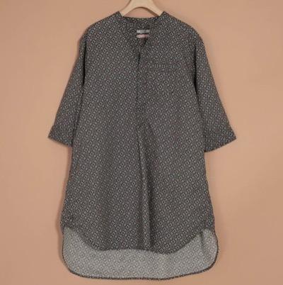 OMNIGODチュニック [OMNIGOD womens / オムニゴッド] 綿麻バンダナクロス スリープドレス