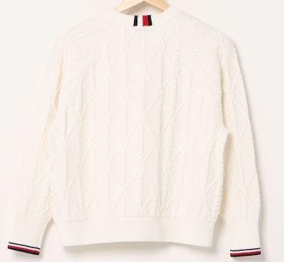 TOMMY HILFIGERコットンニットロープセーター