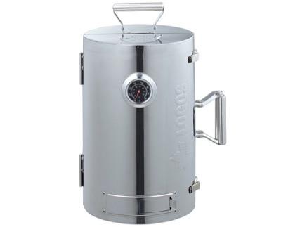 LOGOS(ロゴス)スモーカー LOGOSの森林 スモークタワー 燻煙器 円筒型 180度開閉タイプ