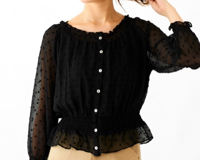 flowernuance dot blouse ~ニュアンスドットブラウス