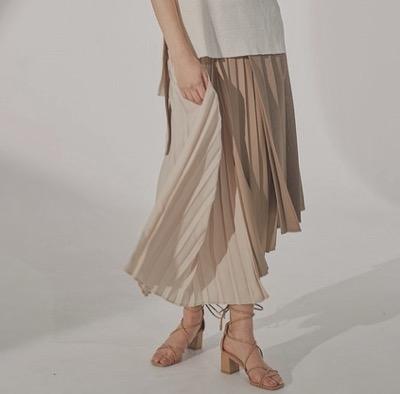 LADYMADEマルチプリーツドッキングスカート