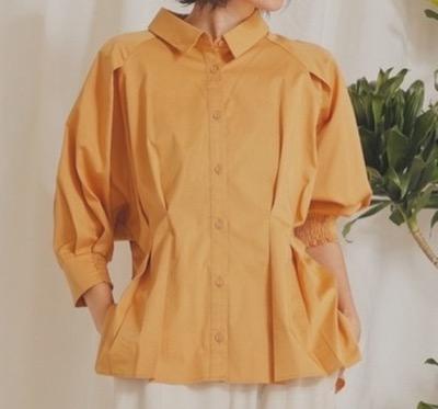 LADYMADEラグランタックボリュームシャツ