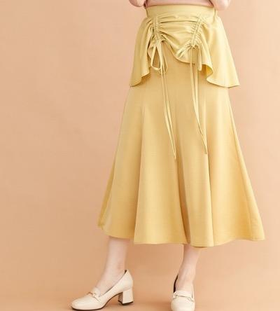 merlot plusペプラムドロストマーメイドスカート