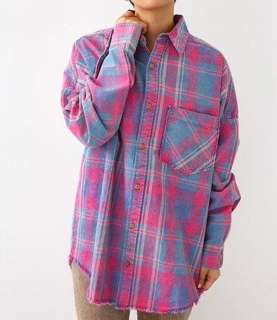 RODEO CROWNS WIDE BOWL(ロデオクラウンズワイドボウル)スプリングヴィンテージチェックシャツ