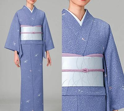 風香(FU-KA)飲食店ユニフォーム 二部式着物 【Aタイプ】(楓とび小紋・藤色)